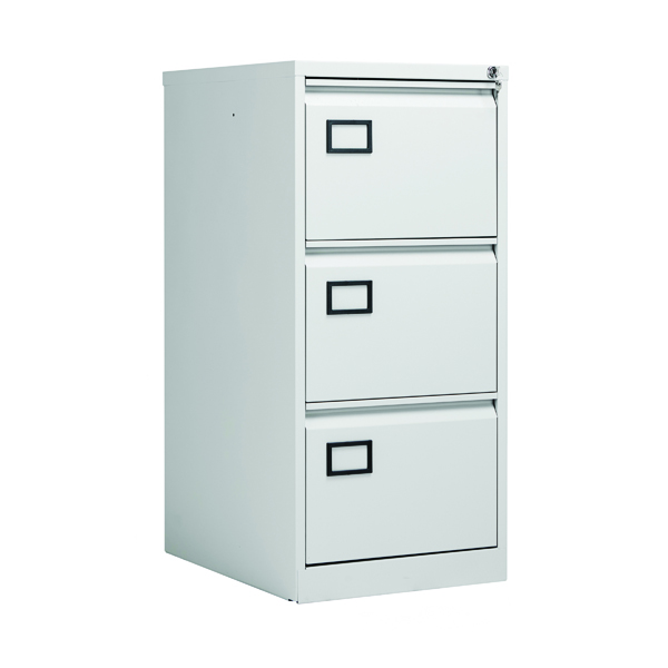Jemini 3 Drawer Filing Cabinet Light Grey KF20043