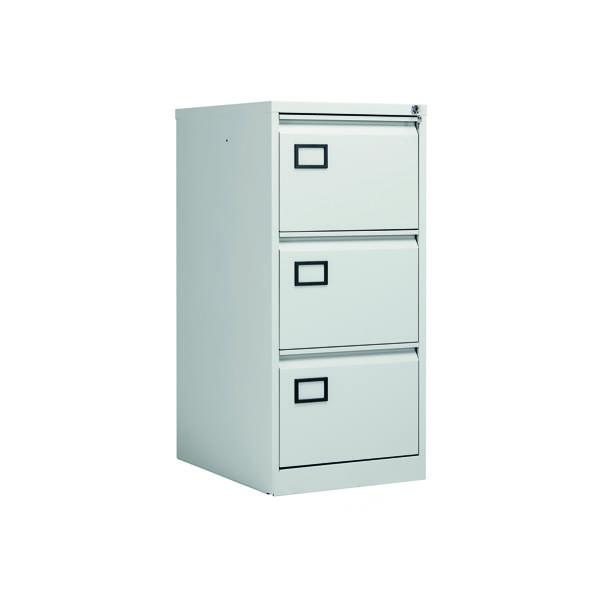 Three-Drawer Jemini 3 Drawer Filing Cabinet Light Grey KF20043