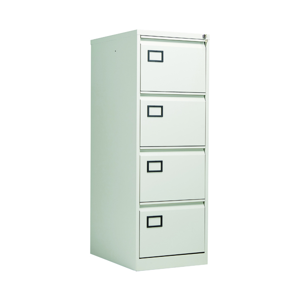 Jemini 4 Drawer Filing Cabinet Light Grey KF20044