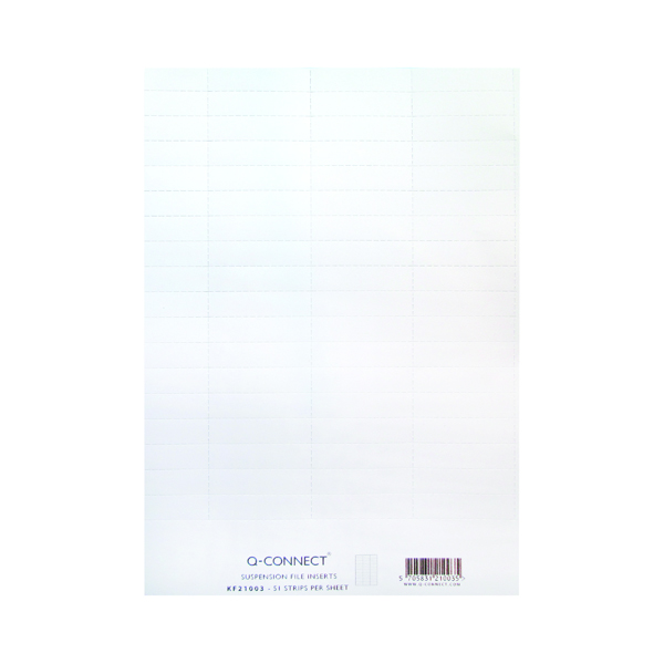 Q-Connect Suspension File Insert White (51 Pack) KF21003