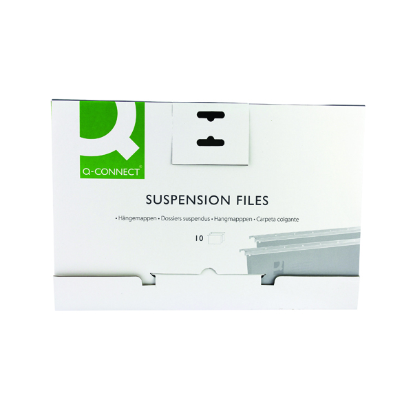 Q-Connect Foolscap Tabbed Suspension Files (10 Pack) KF21018