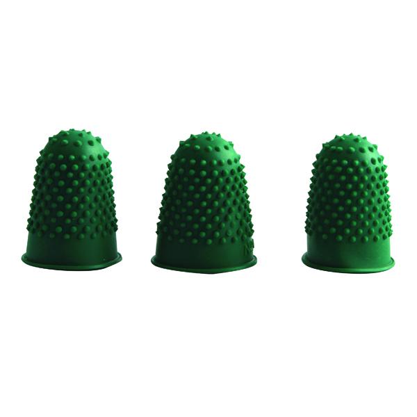 Cones/Thimbles Q-Connect Thimblettes Size 0 Green (12 Pack) KF21508