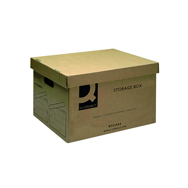 Q-Connect Storage Box 335x400x250mm Brown KF21665