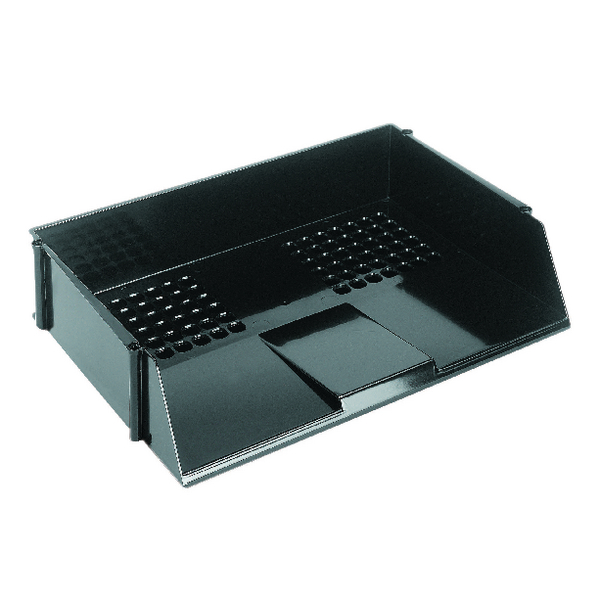 Q-Connect Wide Entry Letter Tray Black KF21688