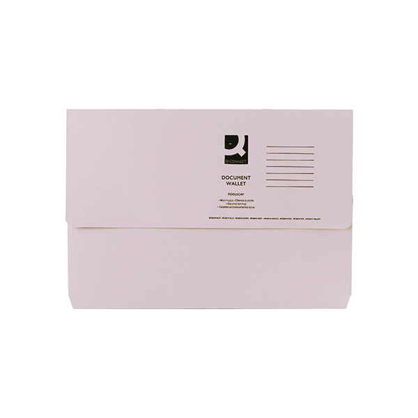 Q-Connect Document Wallet Foolscap Buff (50 Pack) KF23010