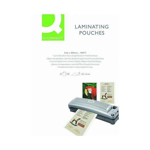Laminating Film & Pockets Q-Connect Matt A4 Laminating Pouch 250 Micron (100 Pack) KF24055