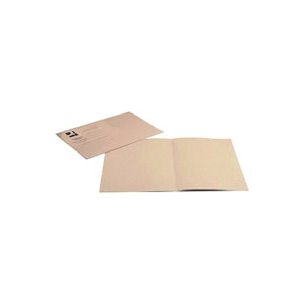 Q-Connect Square Cut Folder Lightweight 180gsm Foolscap Buff (100 Pack) KF26032