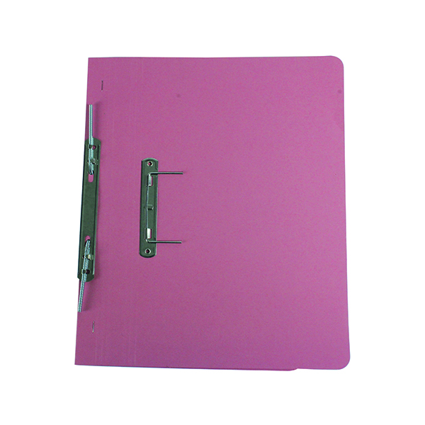 Files Q-Connect Transfer File 35mm Capacity Foolscap Pink (25 Pack) KF26058