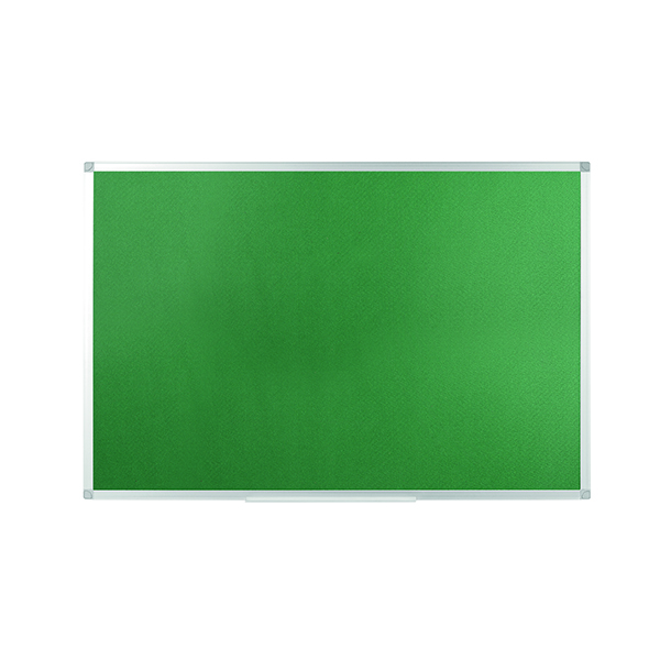 Felt Q-Connect Aluminium Frame Felt Noticeboard 1200x900mm Green 54034204