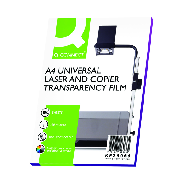 Unspecified Q-Connect Clear Over Head Projector Film (100 Pack) KF26066