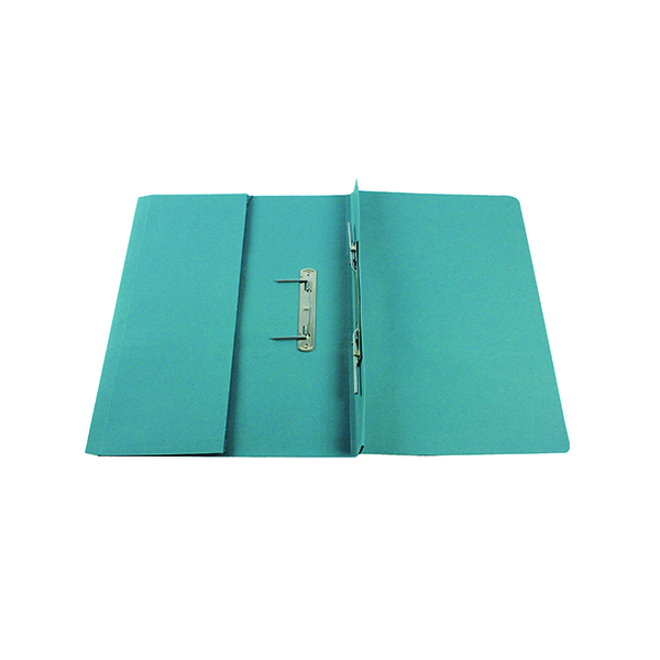 Q-Connect Transfer Pocket 35mm Capacity Foolscap File Blue (25 Pack) KF26094