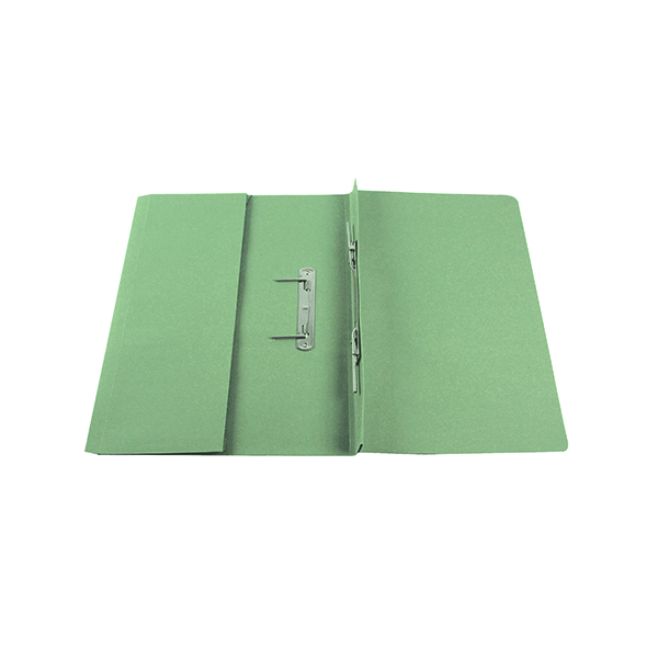 Files Q-Connect Transfer Pocket 35mm Capacity Foolscap File Green (25 Pack) KF26096