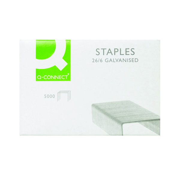 6mm Q-Connect Staples 26/6mm (5000 Pack) KF27001