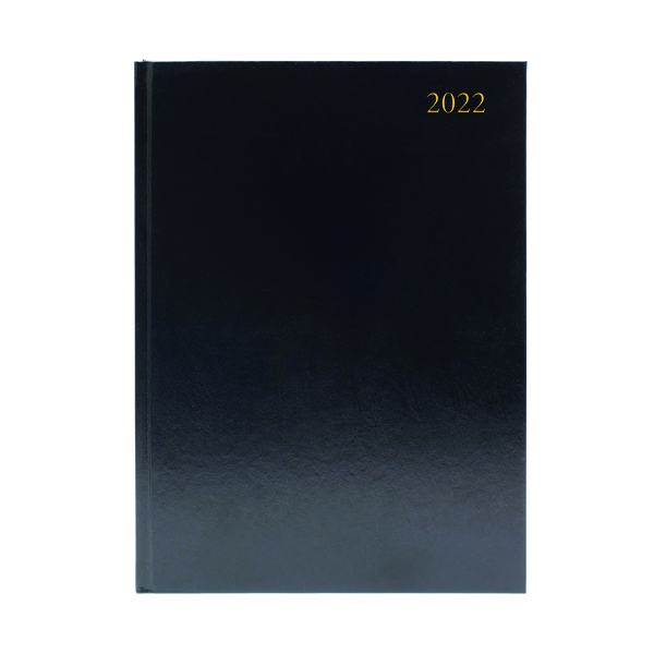 2 Pages a Day Desk Diary 2 Days Per Page A4 Black 2022 KFA42BK22