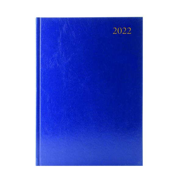 2 Pages a Day Desk Diary 2 Days Per Page A4 Blue 2022 KFA42BU22