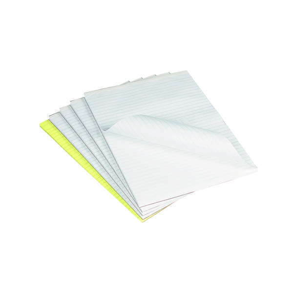 Q-Connect Feint Ruled Board Back Memo Pad 160 Pages A4 (10 Pack) A4 MEMO F