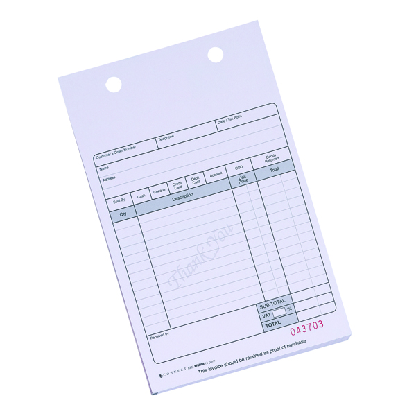 Miscellaneous Q-Connect 2-Part Sales Receipt Form White (100 Pack) KF32108