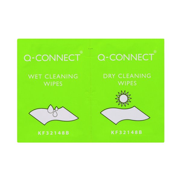 Screen Q-Connect Wet and Dry Wipes (20 Pack) KF32148