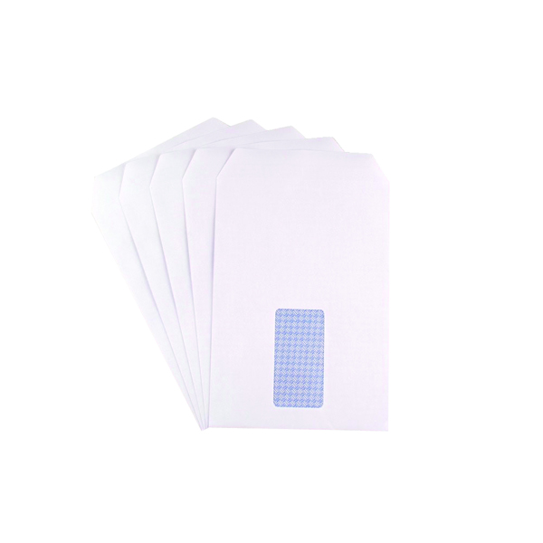 Q-Connect C5 Envelopes Window Pocket Self Seal 90gsm White (500 Pack) 2820