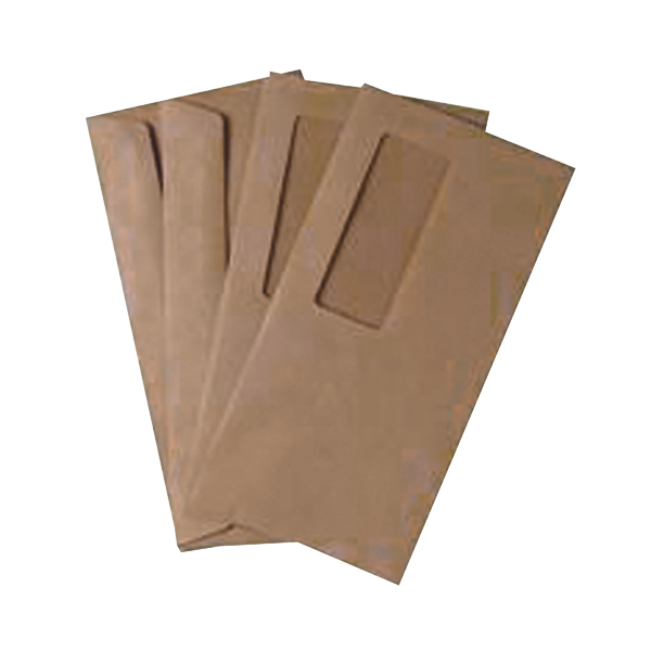 Manila Window Q-Connect DL Envelopes Wallet High Window Gummed 70gsm Manilla (1000 Pack) 721204