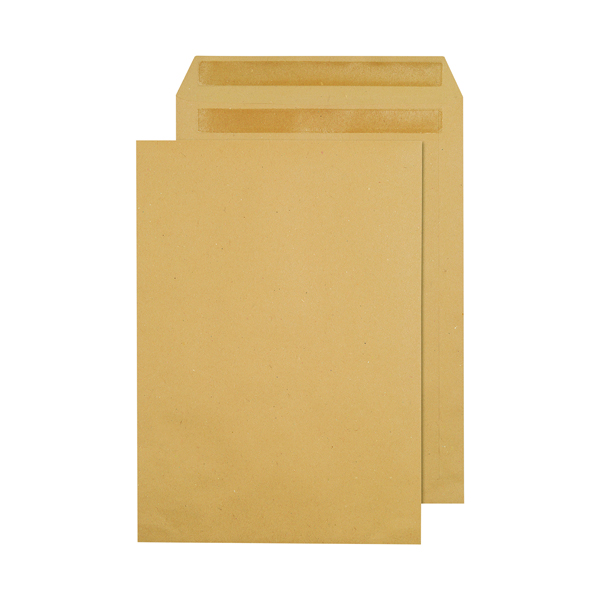 Q-Connect C4 Envelopes Pocket Self Seal 90gsm Manilla (250 Pack) X1082/01