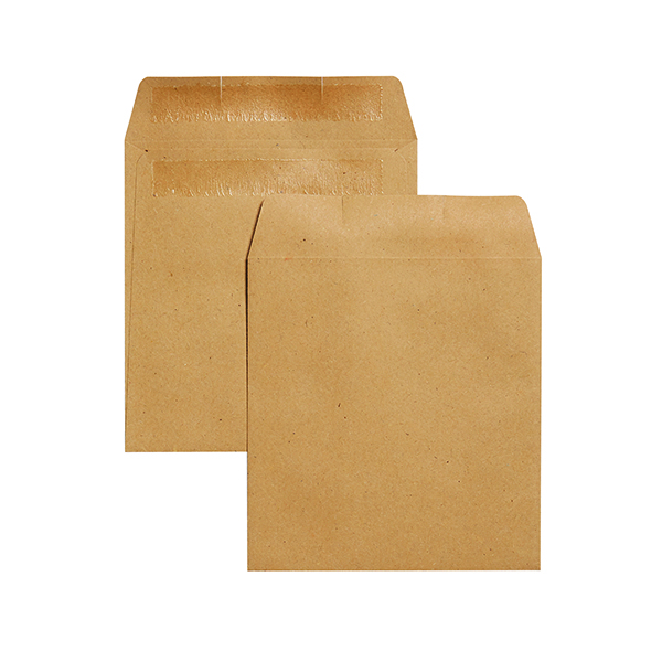 Q-Connect Envelope Wage 108x102mm Plain Self Seal 90gsm Manilla (1000 Pack) KF3420