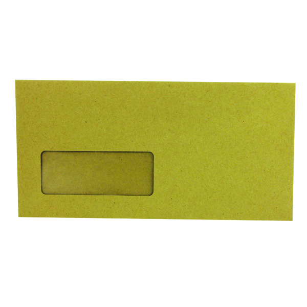 Manila Window Q-Connect DL Envelopes Wallet Window Gummed 70gsm Manilla (1000 Pack) KF3423