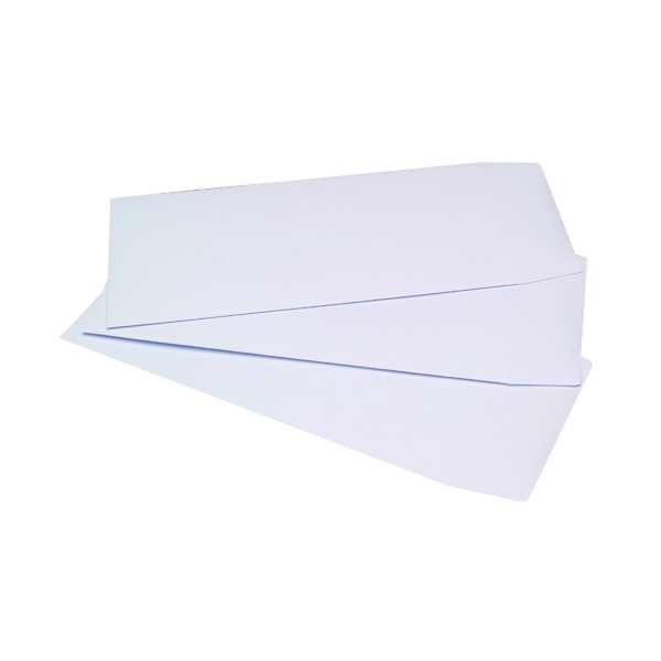 White Plain Q-Connect DL Envelopes Pocket Self Seal 100gsm White (500 Pack) 8027