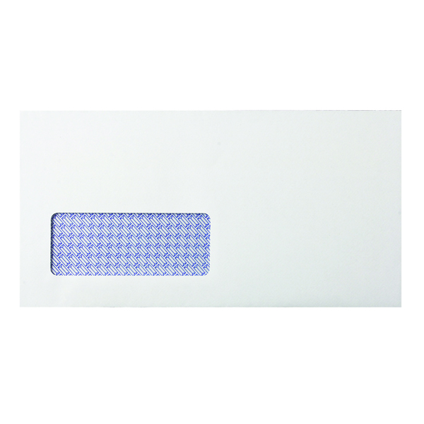 White Window Q-Connect DL Envelopes Window Self Seal 80gsm White (1000 Pack) KF3455