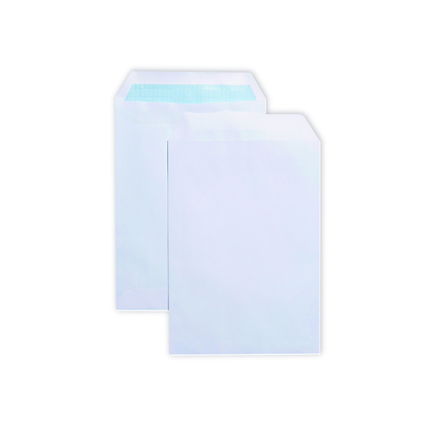 White Plain Q-Connect C5 Envelopes Pocket Self Seal 90gsm  White (500 Pack) 2898