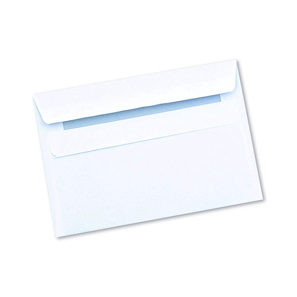 White Plain Q-Connect C6 Envelope Wallet Self Seal 90gsm White (1000 Pack) 7042