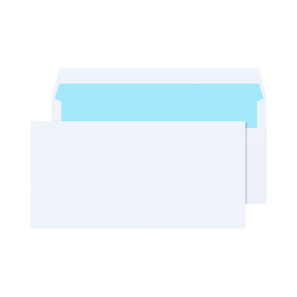 White Plain Q-Connect DL Envelopes Wallet Self Seal 90gsm White (1000 Pack) 7134