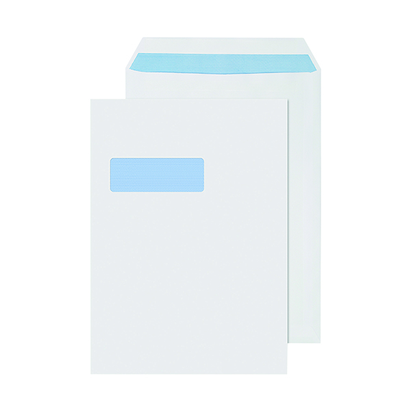 White Window Q-Connect C4 Envelopes Window Self Seal 90gsm White (250 Pack) 2907