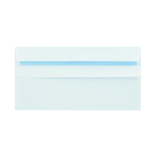 White Plain Q-Connect DL Envelopes Recycled Self Seal 100gsm White (500 Pack) KF3504
