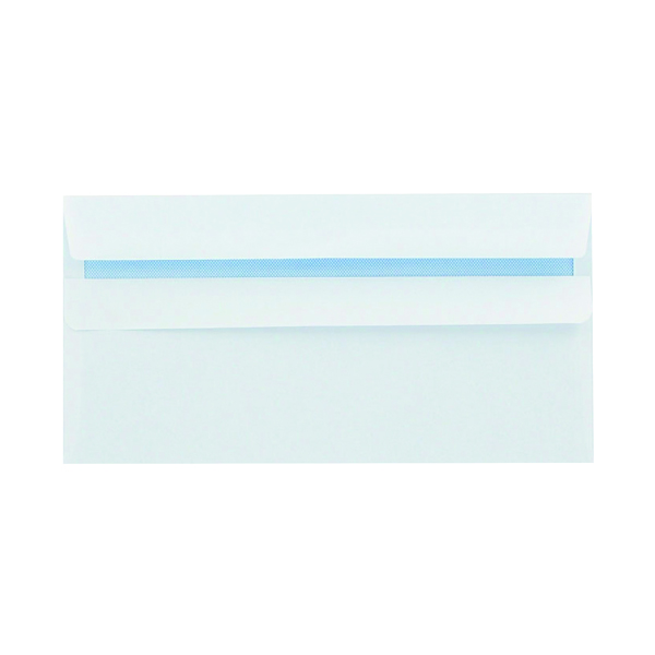 White Plain Q-Connect DL Envelopes Wallet Self Seal 100gsm White (1000 Pack) 7137