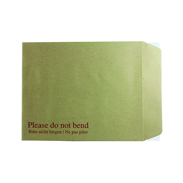 Board Back Q-Connect Envelope 267x216mm Board Back Peel and Seal 115gsm Manilla (125 Pack) KF3519
