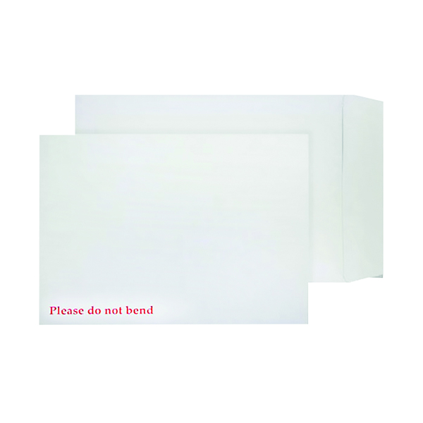 Board Back Q-Connect C4 Envelopes Board Back Peel and Seal 120gsm White (125 Pack) KF3525