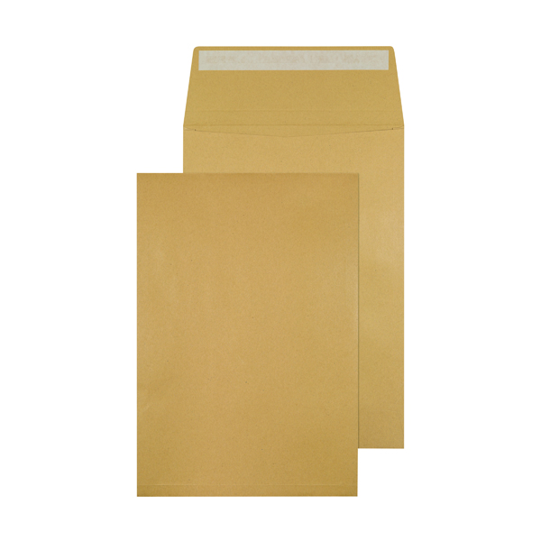 Gusset Plain & Window Q-Connect Envelope Gusset 324x229x25mm Peel and Seal 120gsm Manilla (100 Pack) KF3527