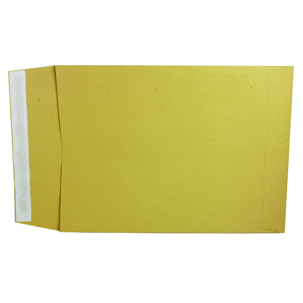 Gusset Plain & Window Q-Connect Envelope Gusset 381x254x25mm Peel and Seal 120gsm Manilla (100 Pack) KF3528