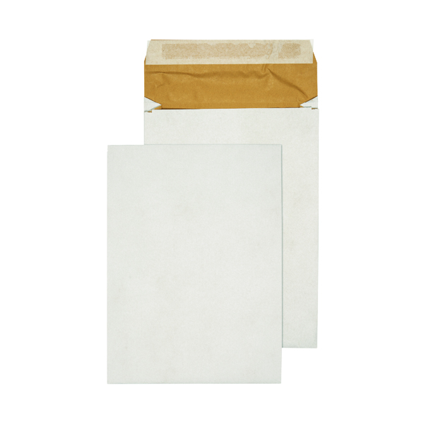Gusset Plain & Window Q-Connect Padded Gusset Envelopes C4 324x229x50mm Peel and Seal White (100 Pack) KF3531