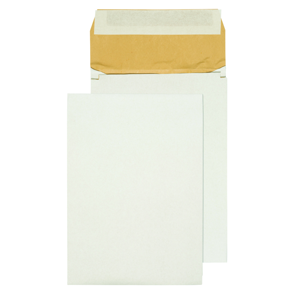 Bubble Q-Connect Padded Gusset Envelopes B4 353x250x50mm Peel and Seal White (100 Pack) KF3532