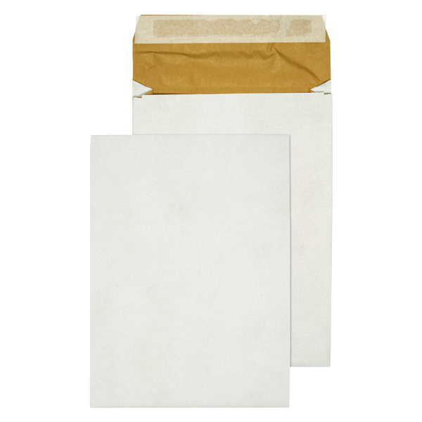 Bubble Q-Connect Padded Gusset Envelopes E4 400x280x50mm Peel and Seal White (100 Pack) KF3533