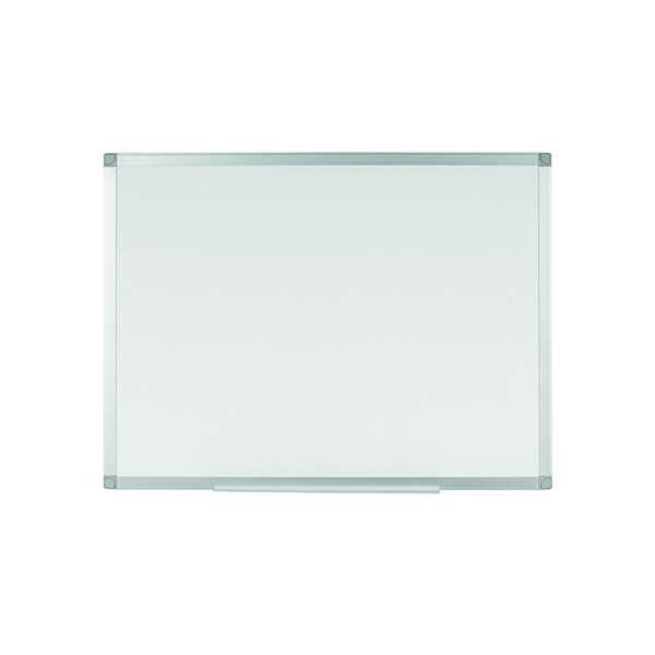 Non-Magnetic Q-Connect Aluminium Frame Whiteboard 1800x1200mm 54034623 KF37017