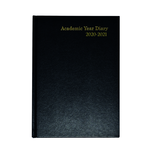 Academic Academic Diary Week to View A5 Black 2020-21 KF3A5ABK20