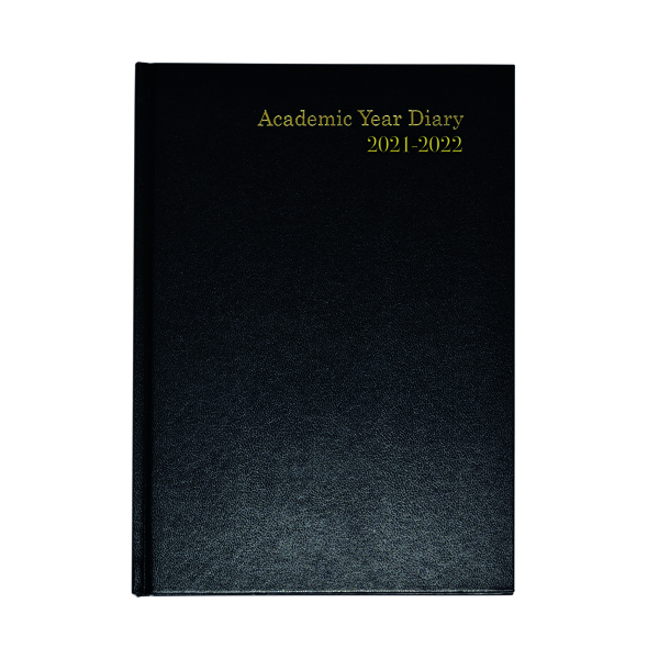 Academic Academic Diary Week To View A5 Black 2021-22 KF3A5ABK21