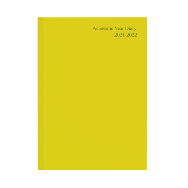 Academic Academic Diary Week To View A5 Yellow 2021-22 KF3A5AYL21