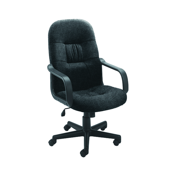 High Back Jemini Ouse Fabric Executive Chairs KF50178