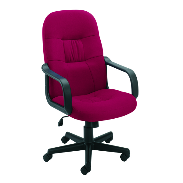 High Back JeminiOuse Fabric Executive Chairs KF50179
