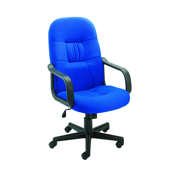 High Back Jemini Ouse Fabric Executive Chairs KF50180