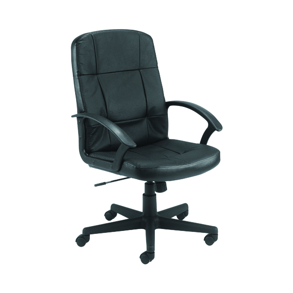 High Back Jemini Thames Leather Look Chair KF50189